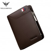 http://www.egbazar.com/WilliamPOLO Genuine Leather Card Holder Wallet (Brown)